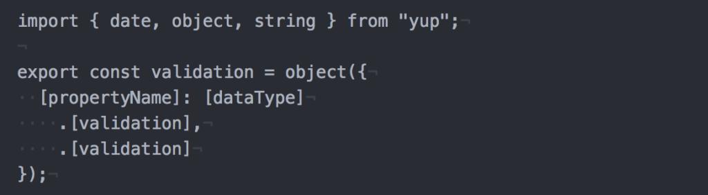 Sample: Structure of schema validation