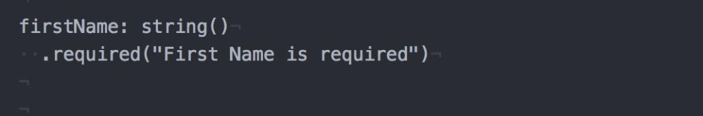 Sample: Custom error message for first name